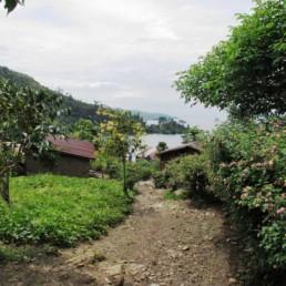 View to Lake Kivu, near Bukavu.